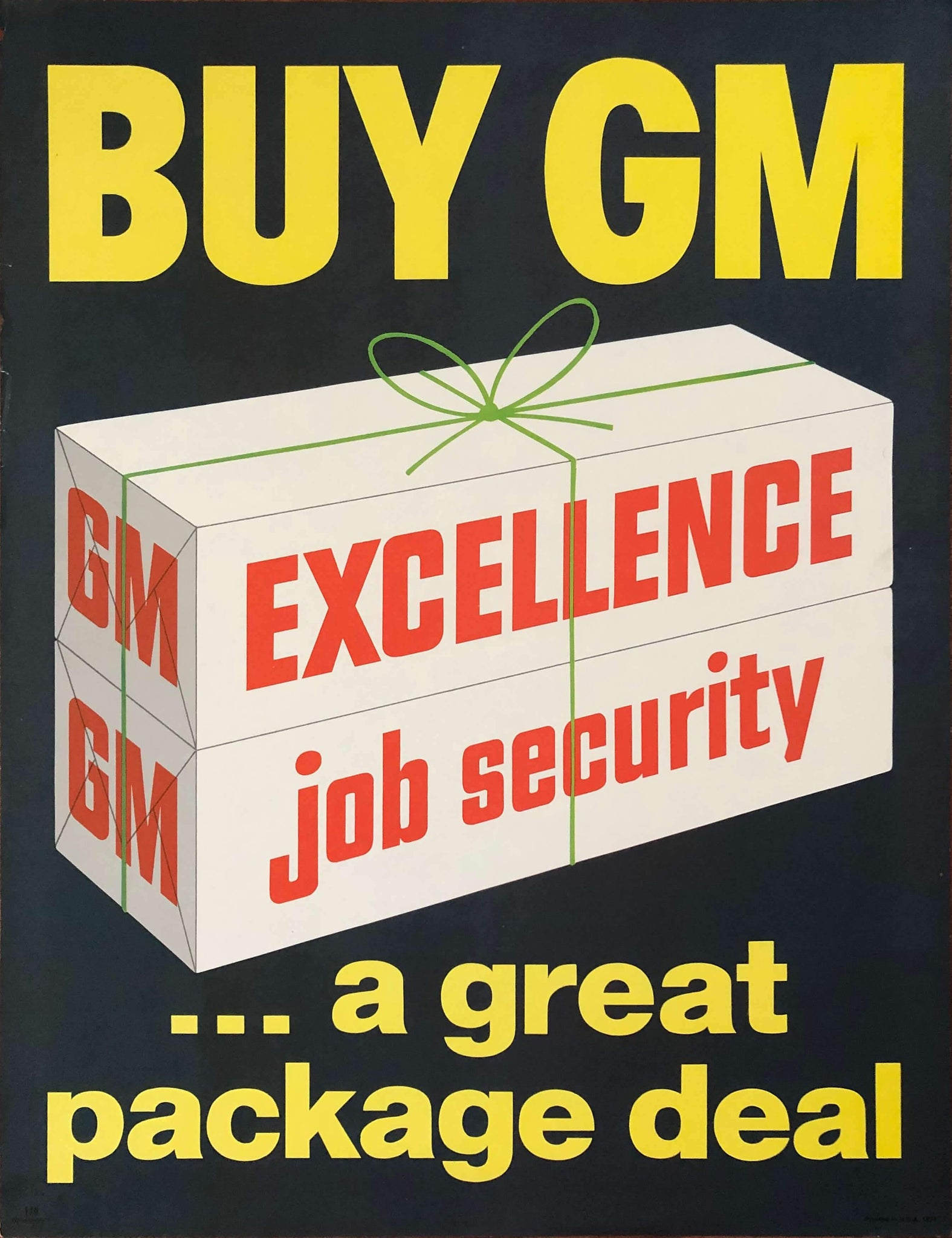 c. 1962 Buy GM … A Great Package Deal | Excellence & Job Security - Golden Age Posters