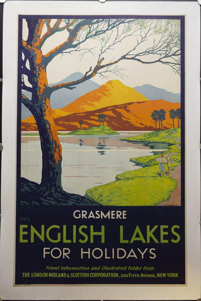 1932 Grasmere England Lake District London Midland Scottish Railway Peter Irwin Brown