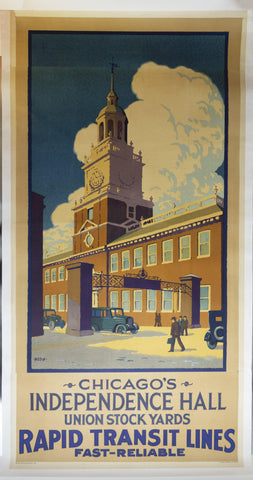 1926 Chicago Rapid Transit Lines Union Stock Yards by Charles B Medin - Golden Age Posters