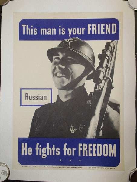 1942 This Man Is Your Friend He Fights For Your Freedom Lot