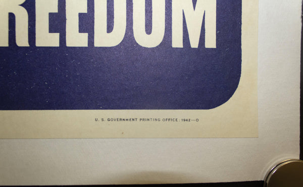 1942 This Man Is Your Friend He Fights For Your Freedom - Ethiopian 20.5 X 14.5