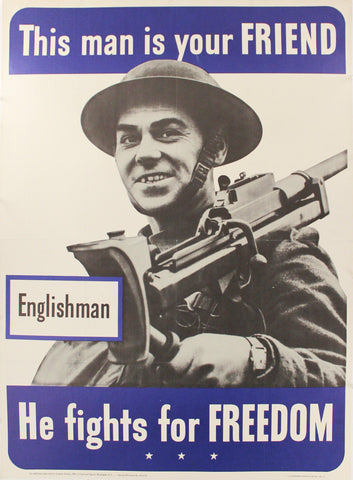 1942 This Man Is Your Friend He Fights For Your Freedom - Englishman