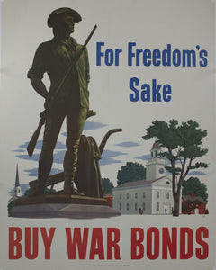 1943 For Freedom's Sake Buy War Bonds by John Atherton