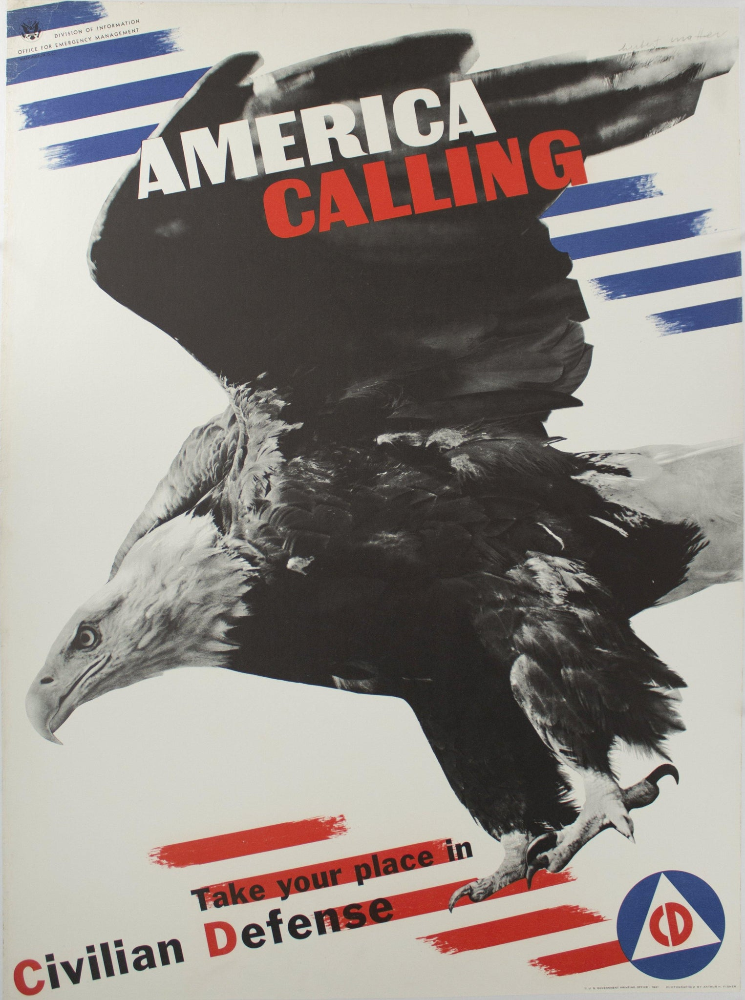 1941 America Calling, Take Your Place in Civilian Defense by Herbert Matter