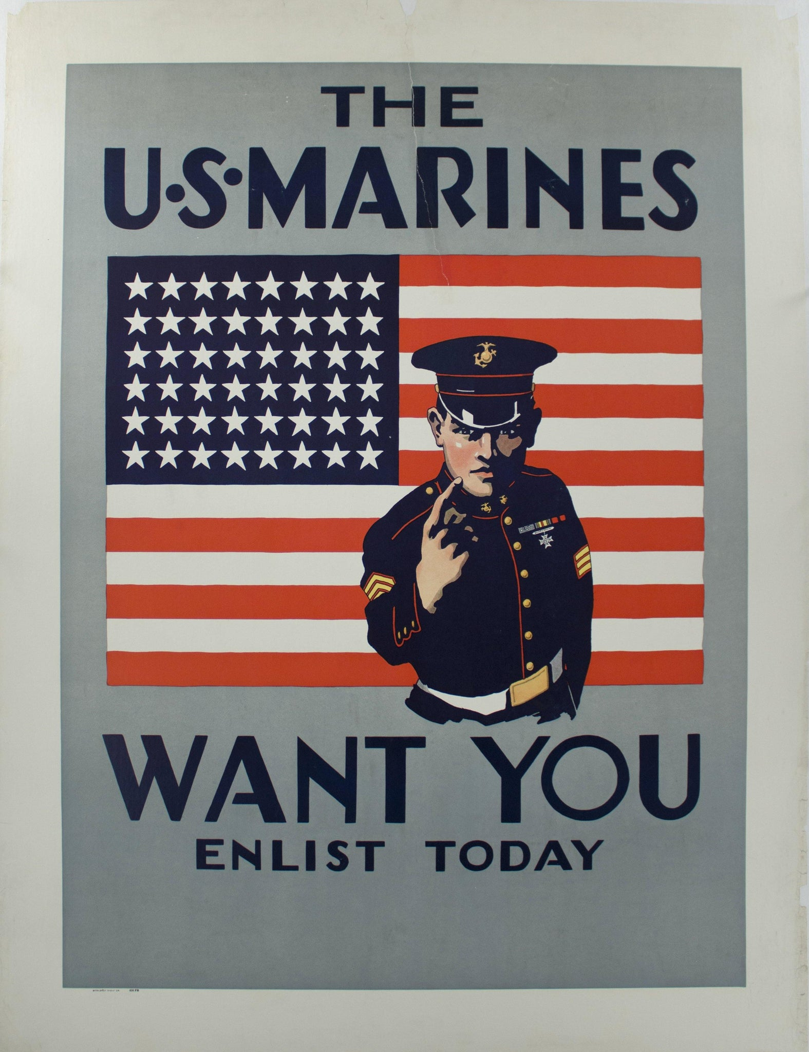 1941 The U.S. Marines Want You Enlist Today
