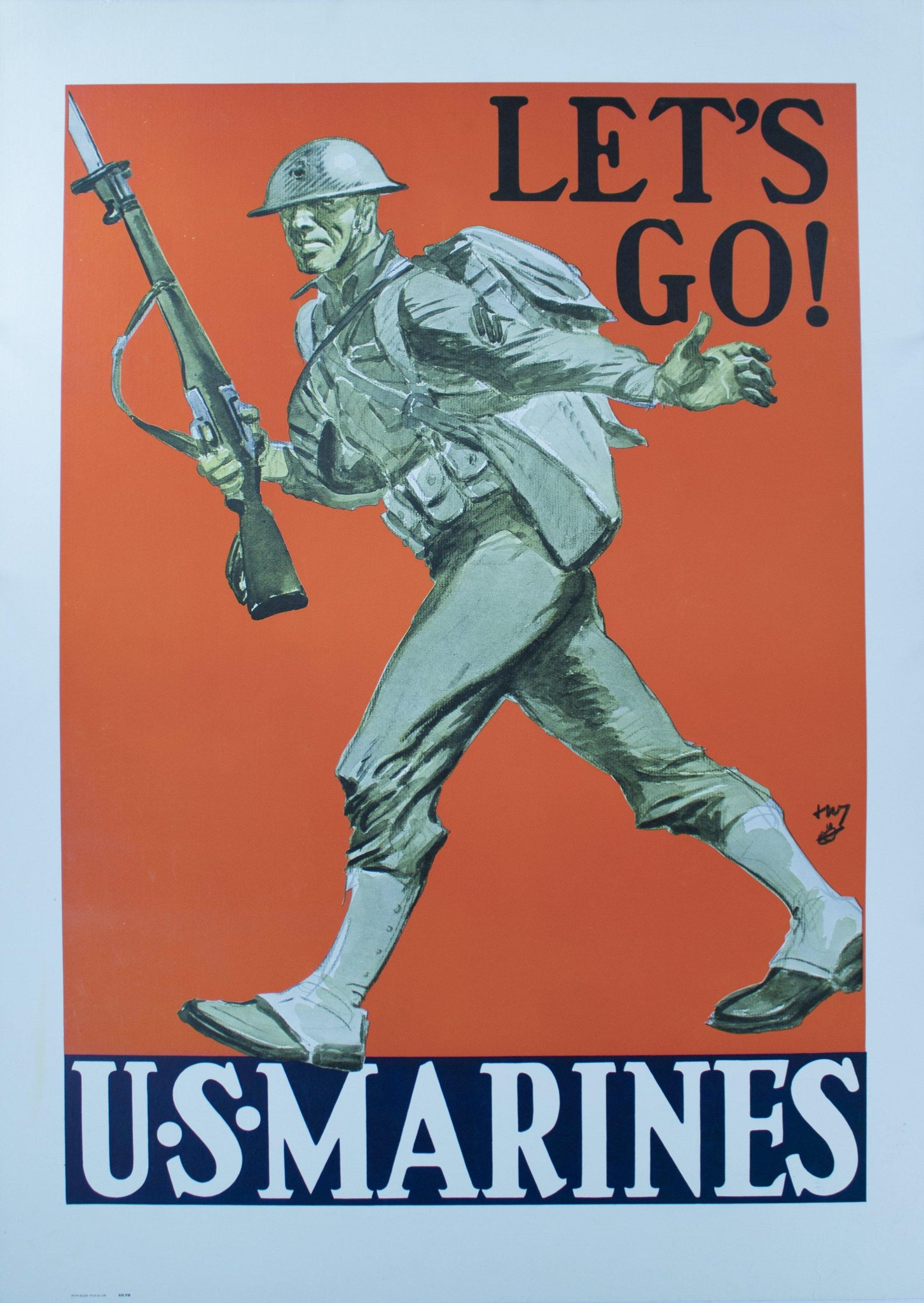 1941 Lets Go! U. S. Marines