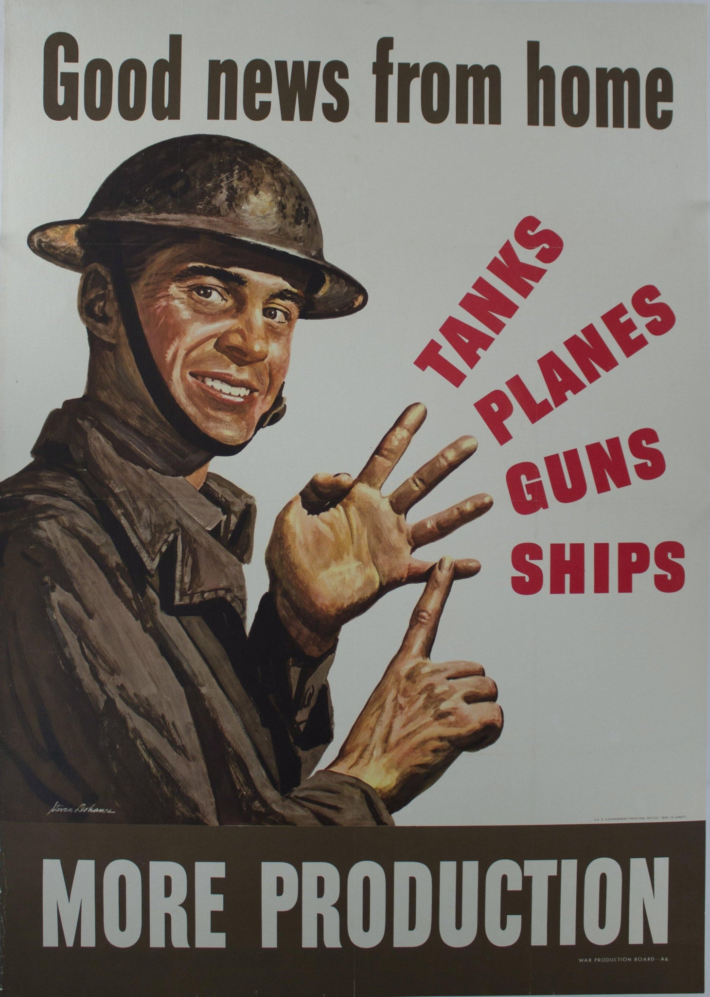 1942 Good News From Home | Tanks Planes Guns Ships | More Production