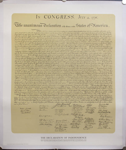 c. 1976 The Declaration of Independence - Golden Age Posters