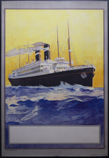 c.1920s SS Lapland Red Star Line by Louis Royon Stock Poster - Golden Age Posters