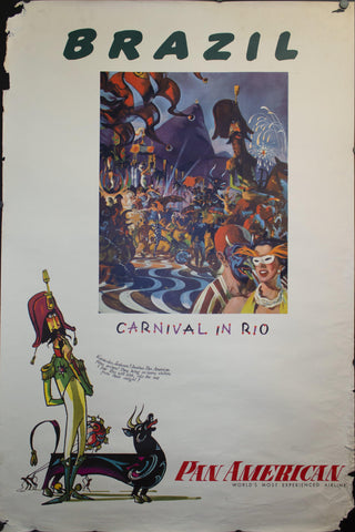Brazil | Carnival in Rio | Pan American Airlines by William Linzee Prescott