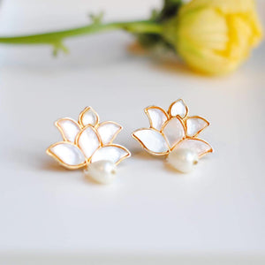 Lotus Kundan Earrings