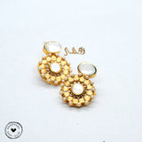 Blossom Kundan earrings