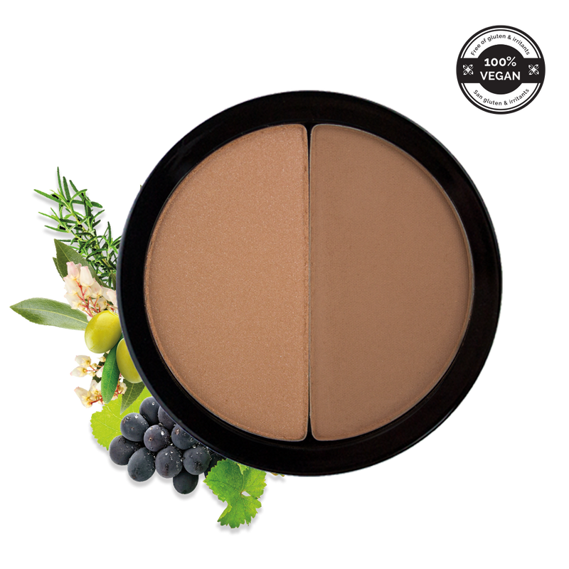 Vegan Duo Bronzer & Highlighter | Copacabana Bronzer | 297 | 100% Vegan | Gluten Free |  Make up |