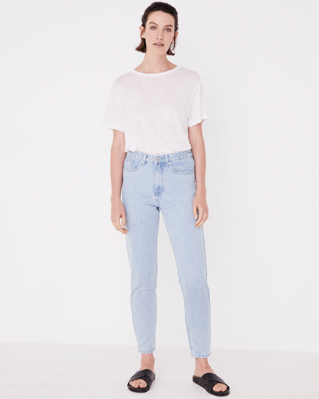 Assembly Label - High Waist Rigid Jean | Pacific Blue
