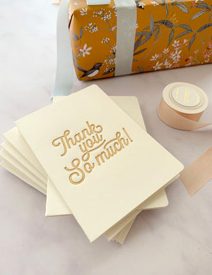 Bespoke Letterpress | Thank You So Much Petite Card