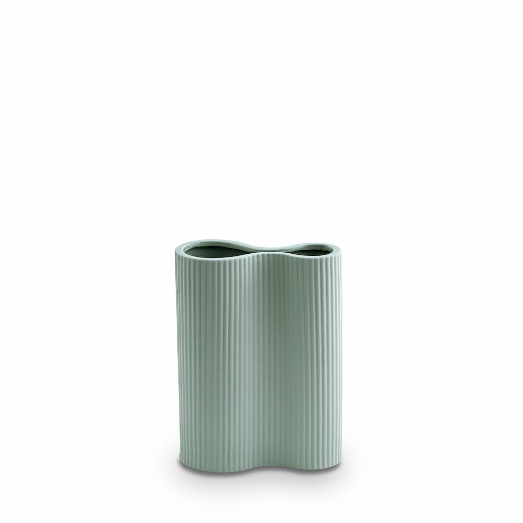 Marmoset Found | Ribbed Infinity Vase Blue