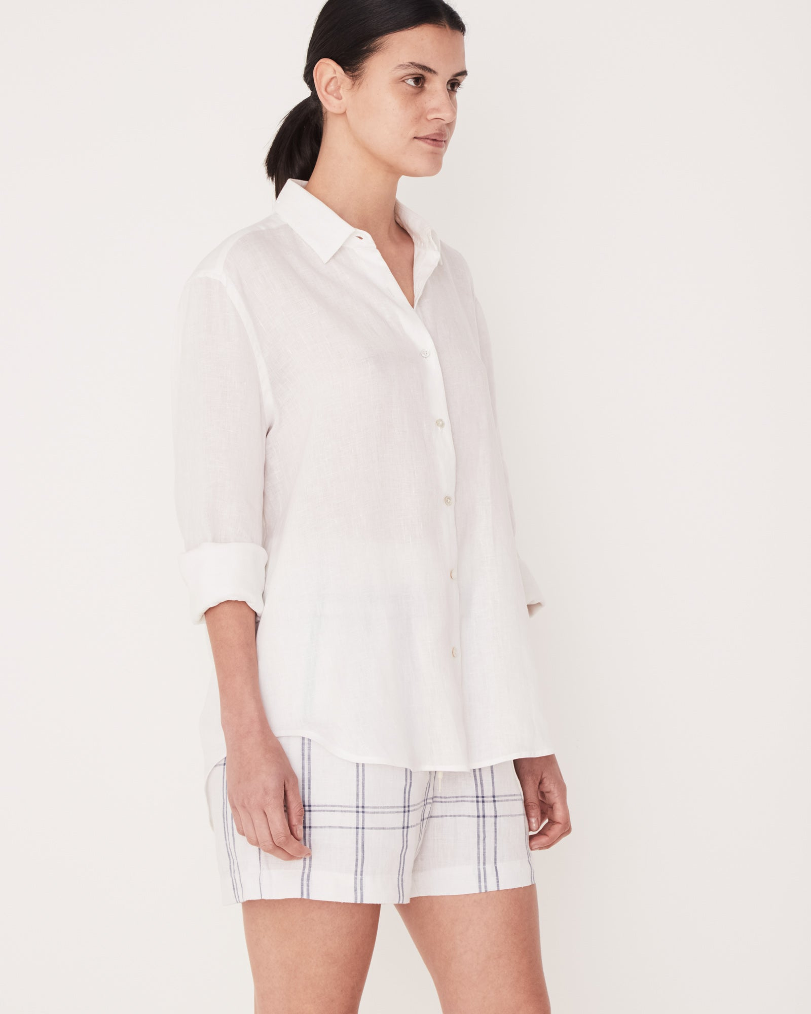 Assembly Label - White Xander Linen Shirt