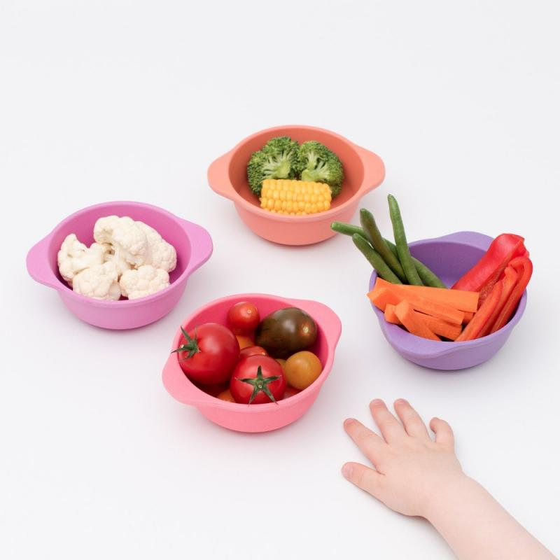 Bobo & Boo || Bamboo Snack Bowl Set in Sunset