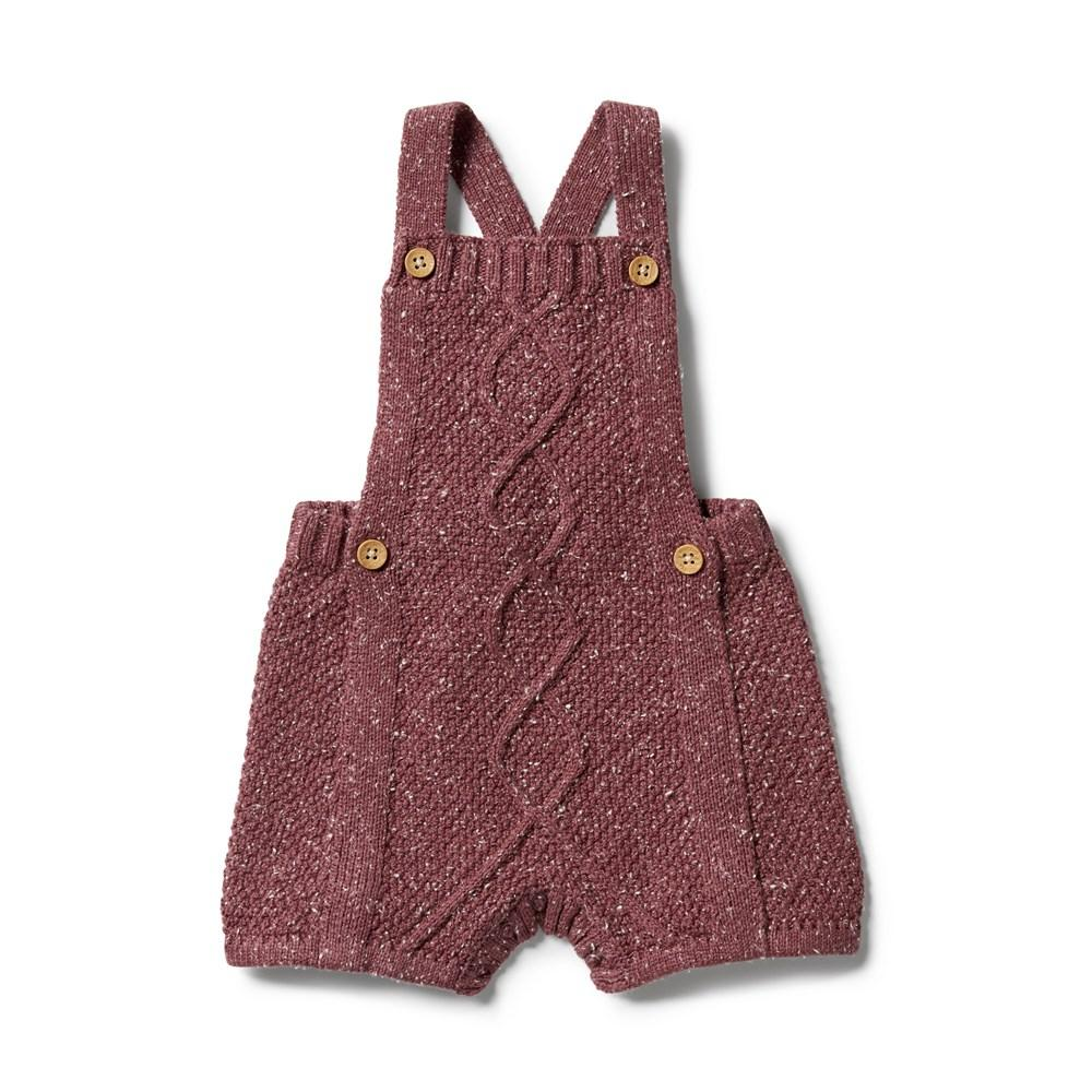 Wilson + Frenchy - Wild Ginger Fleck Knitted Cable Playsuit