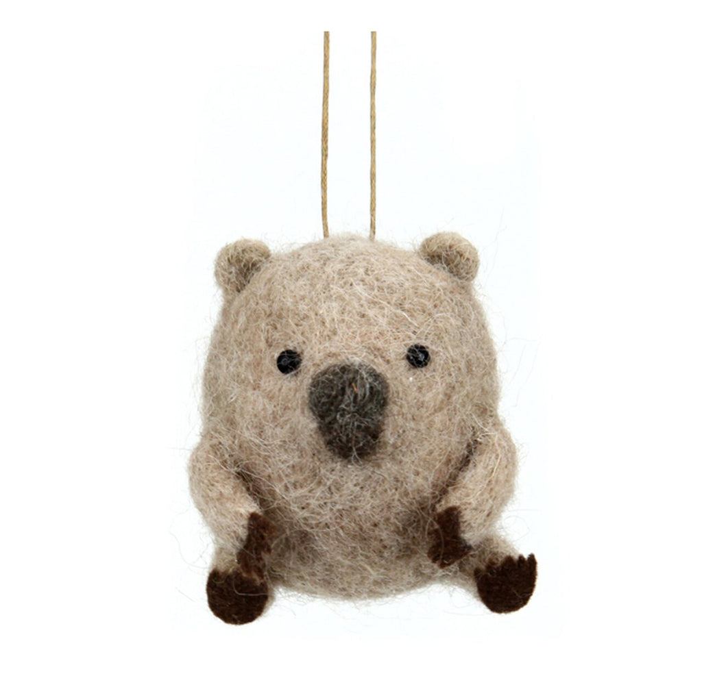 Wool Hanging Wombat