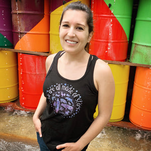 We Are All Made Of Stars - Flowy Racerback Tank