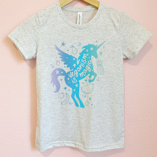 Kids Vegan T-Shirt / Magical Unicorn Tee