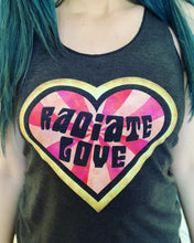 Load image into Gallery viewer, Radiate Love Tri-Blend Racerback Tank
