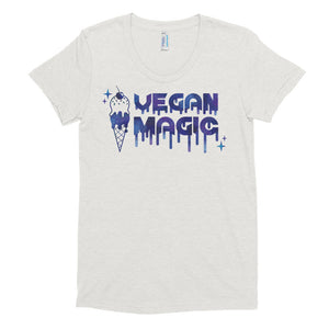 Oatmeal Vegan Magic Women's Tri-Blend T-Shirt