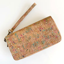 Load image into Gallery viewer, Rainbow Foil Dot Cork Wallet / Clutch