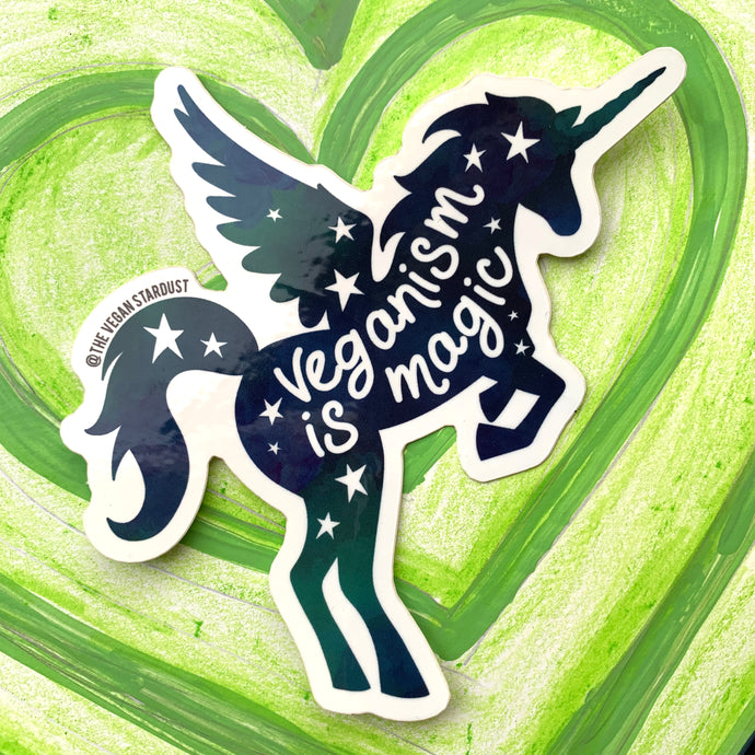 Unicorn / Veganism is Magic Sticker