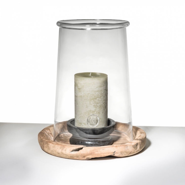 GOMMAIRE CYL.CANDLE D. 12 X H20 CM