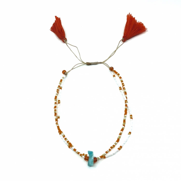 MIMARSE ANKLET DOUBLE ORANGE