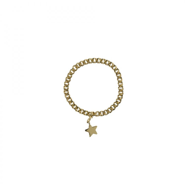 CHAIN STAR RING