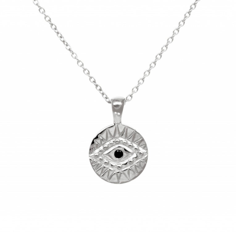 BLACK ZIRCONIA EYE NECKLACE