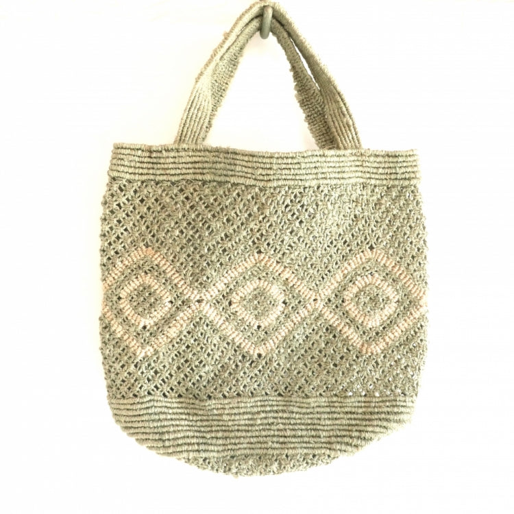 JUTE MACRAME BAG DESIGN/KHAKI
