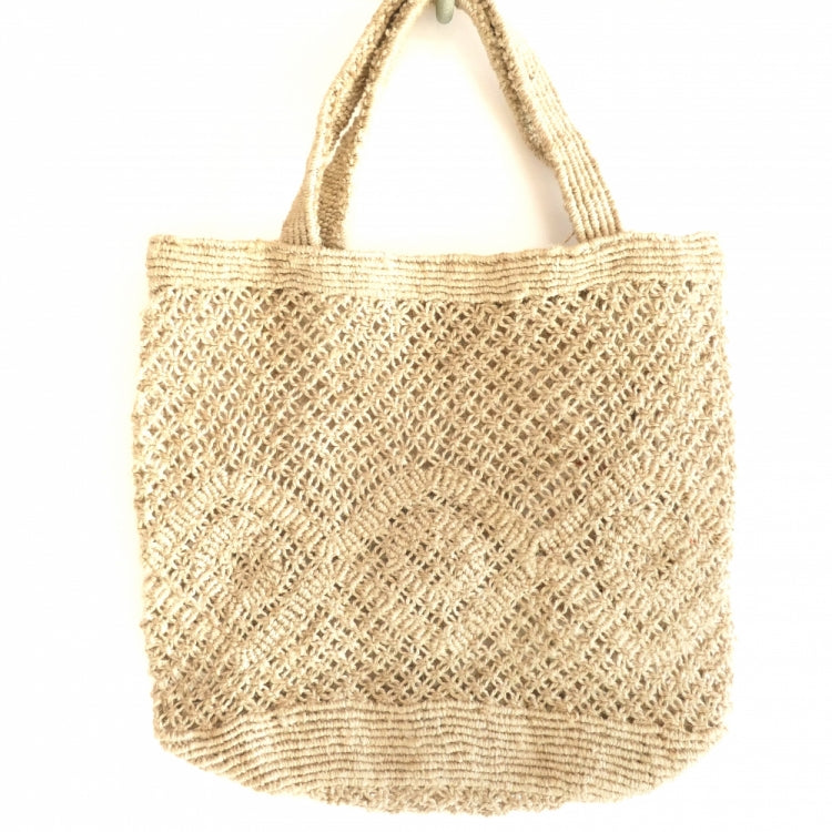 JUTE MACRAME BAG DESIGN/NATURAL