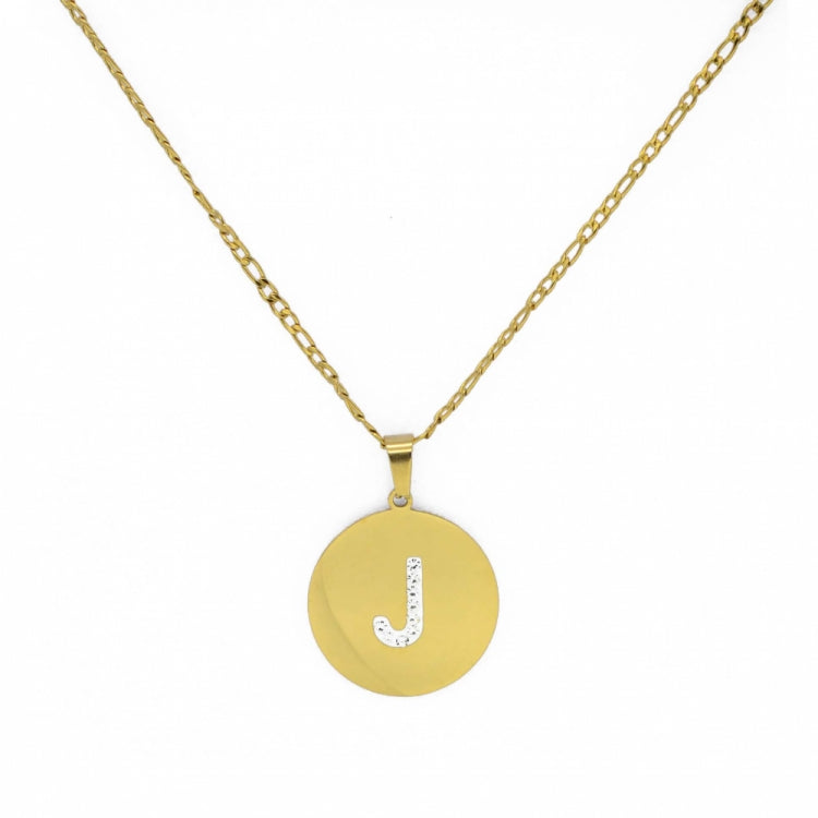 GOLD INITIAL NECKLACE ( A > T )