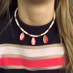 INDOCHINE COLLECTION THREE SHELL SURF FINN NECKLACE