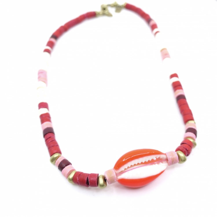 INDOCHINE COLLECTION SHELL SURF FIRE NECKLACE