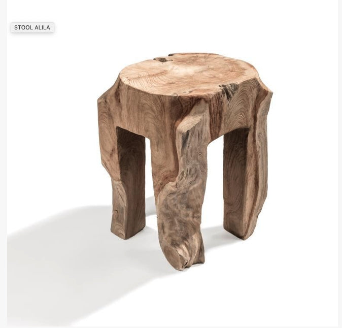 GOMMAIRE STOOL ALILA NATURAL