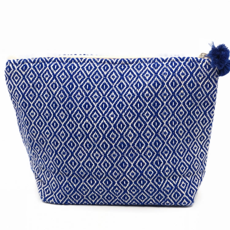 COSMETIC CASE DOUBLE SIDED, COBALT