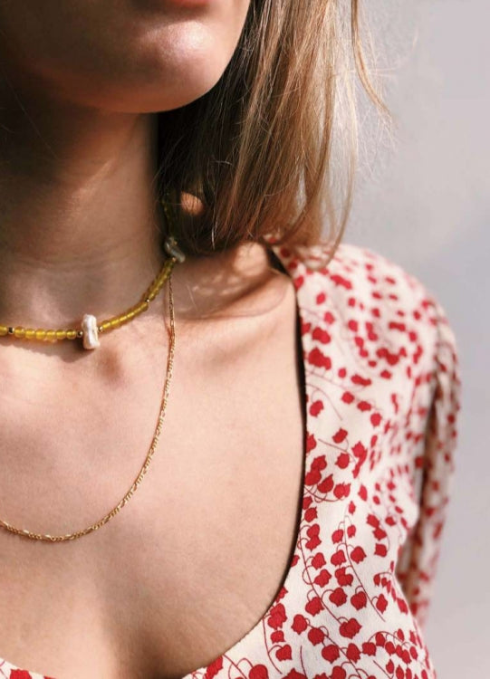 ANNA + NINA WILD JADE NECKLACE