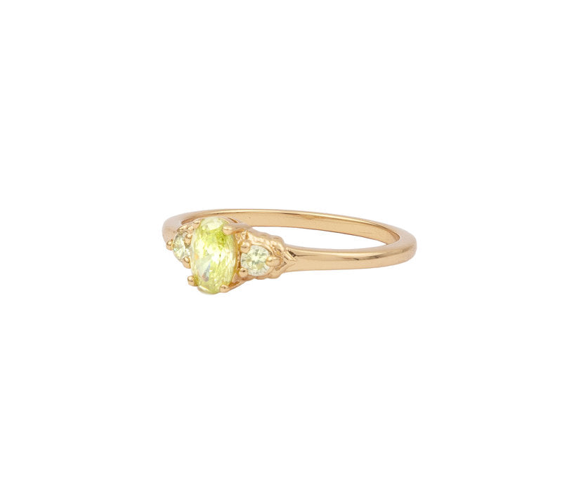 CHERIE OVAL LIME RING