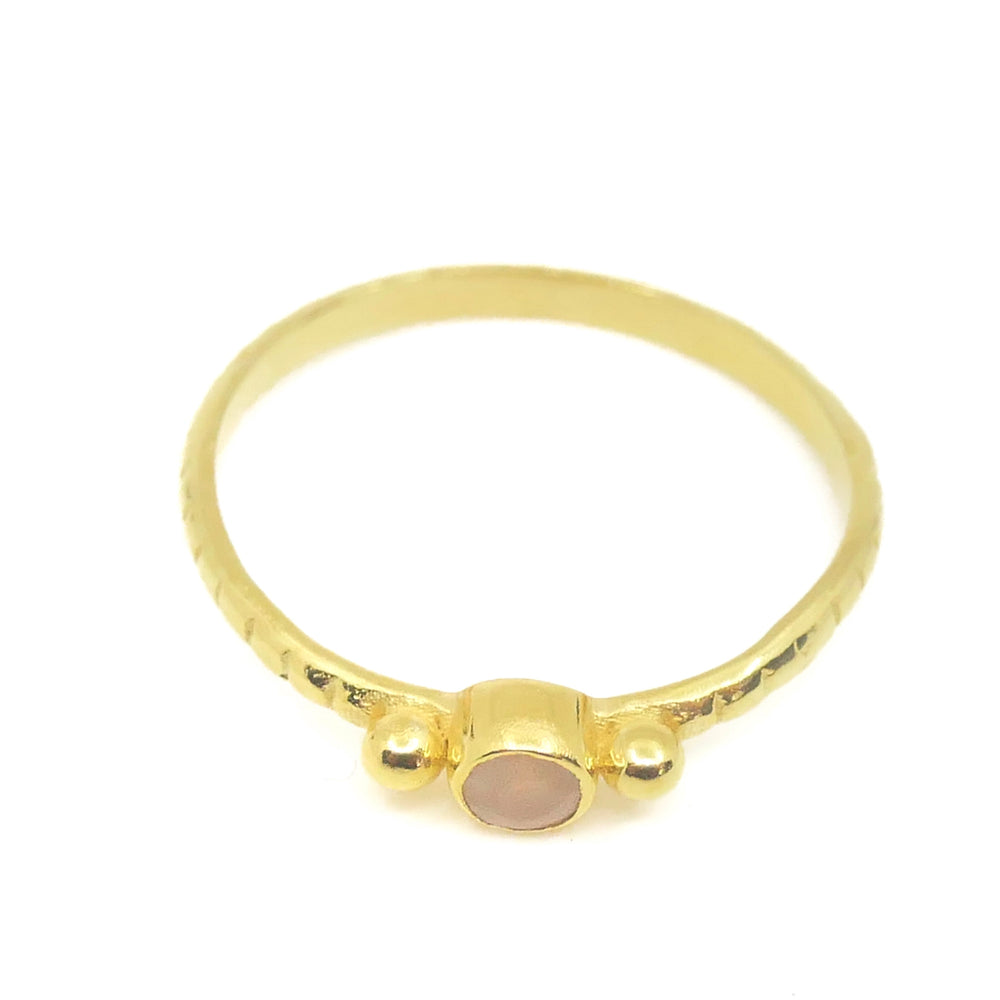 DOTS MOONSTONE RING