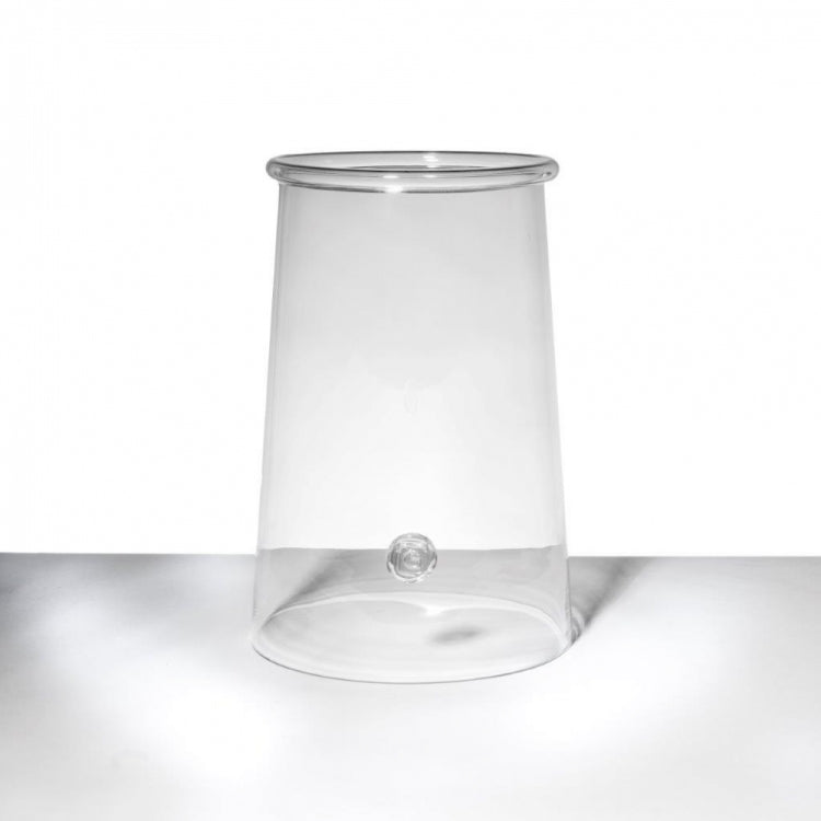 GOMMAIRE HURRICANE GINGER GLASS BELL, TRANSPARENT
