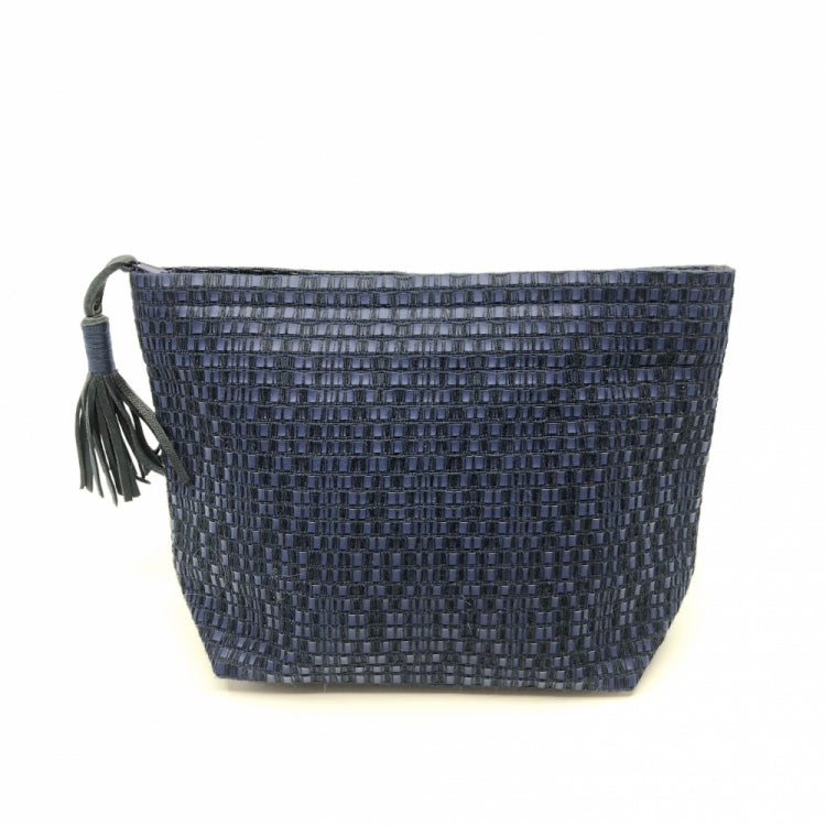 CLUTCH MY POMPOM, BLUE/BLACK