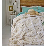 HANDIRA WEDDING BLANKET, OFF-WHITE & WHITE