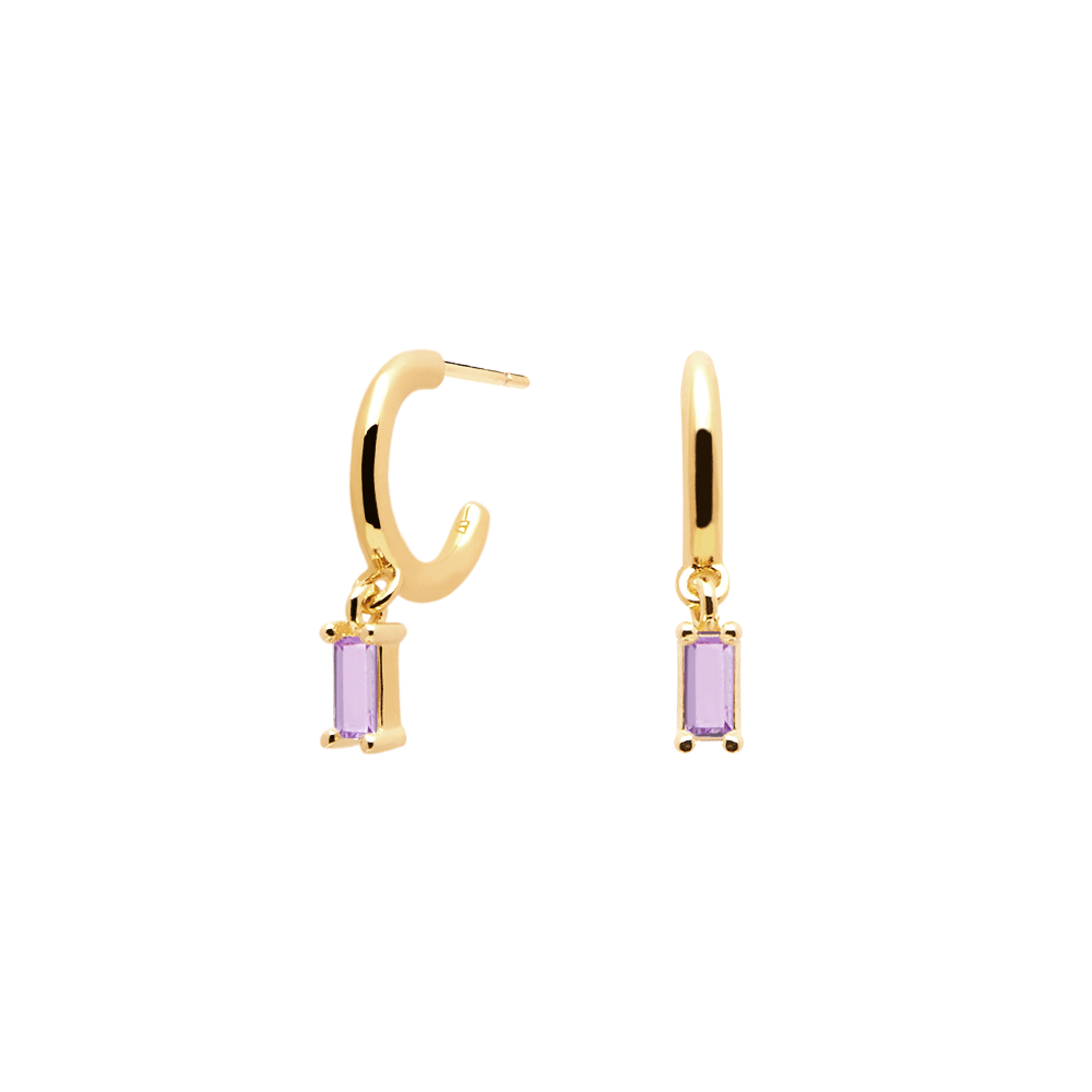 PURPLE ALIA GOLD EARRING