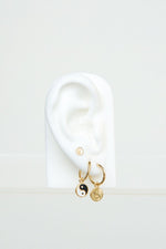 WILDTHINGS YIN YANG COIN EARRING
