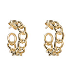 BETTY BOGAERS BIG CHAIN HOOP EARRING